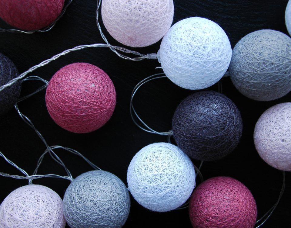 Guirlande de Boule Coton